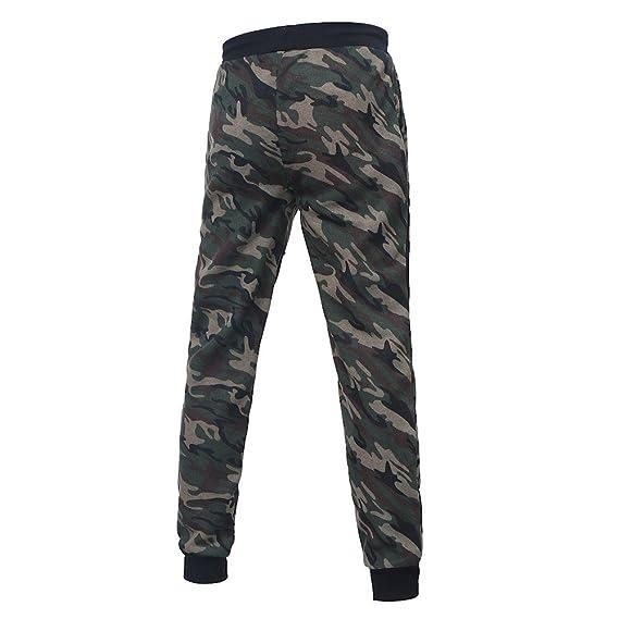 MOVERV Pantalones de Camuflaje Militar Chándal Sueltos Cordón del ...