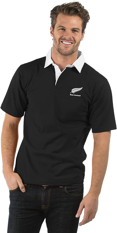 Nueva Zelanda Manga Corta Camisa de Rugby - New Zealand Short ...