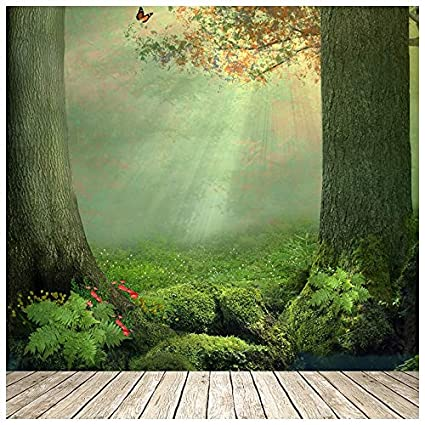 Azutura Enchanted Forest Wall Mural Butterfly Tree Photo Wallpaper Girls Bedroom Decor Available In 8 Sizes Gigantic Digital