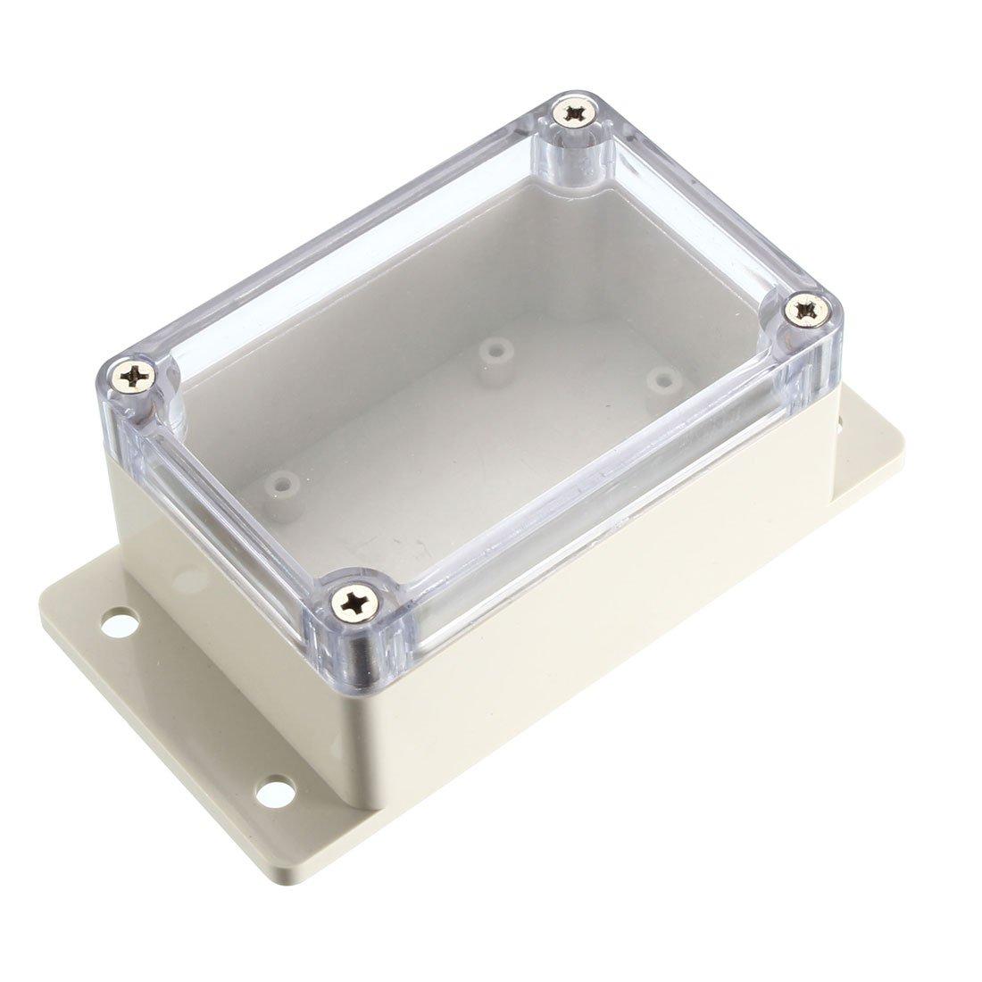 Sourcingmap/ /136/x 72/x 54/MM elettronico impermeabile IP65/sigillato involucro ABS plastica fai da te scatola di giunzione custodia trasparente