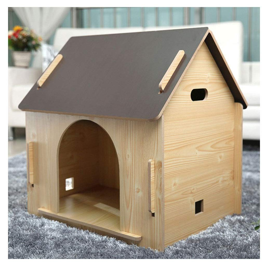 No Door Medium No Door Medium ATR Removable wooden box for pets, for pets has a home, red pine (multi-style and multi-size optional) (color  no door, size  medium)
