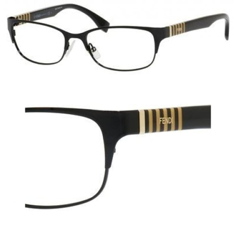 4b1f65dd8b Fendi Women s Eyeglasses FF0033 FF 0033 5LQ Black Semi Rim Optical Frame  53mm at Amazon Women s Clothing store