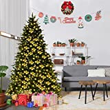 Goplus 7Ft Pre-Lit Artificial Christmas Tree Premium Spruce Hinged (Small Image)