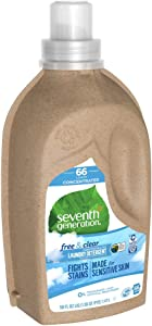 Seventh Generation, Laundry Liquid Natural 4X Free and Clear, 50 Fl Oz