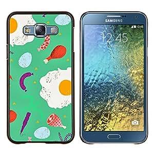Stuss Case / Funda Carcasa protectora - Alimentos trullo abstracto del cocinero del cocinero abstracto - Samsung Galaxy E7 E700