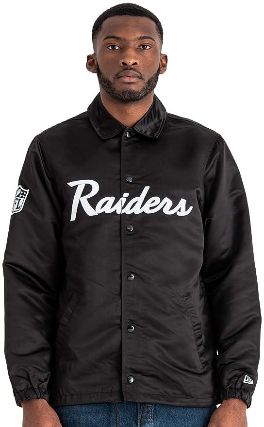 A NEW ERA NFL Raiders Satin Coaches Jkt Oakrai Chaqueta ...