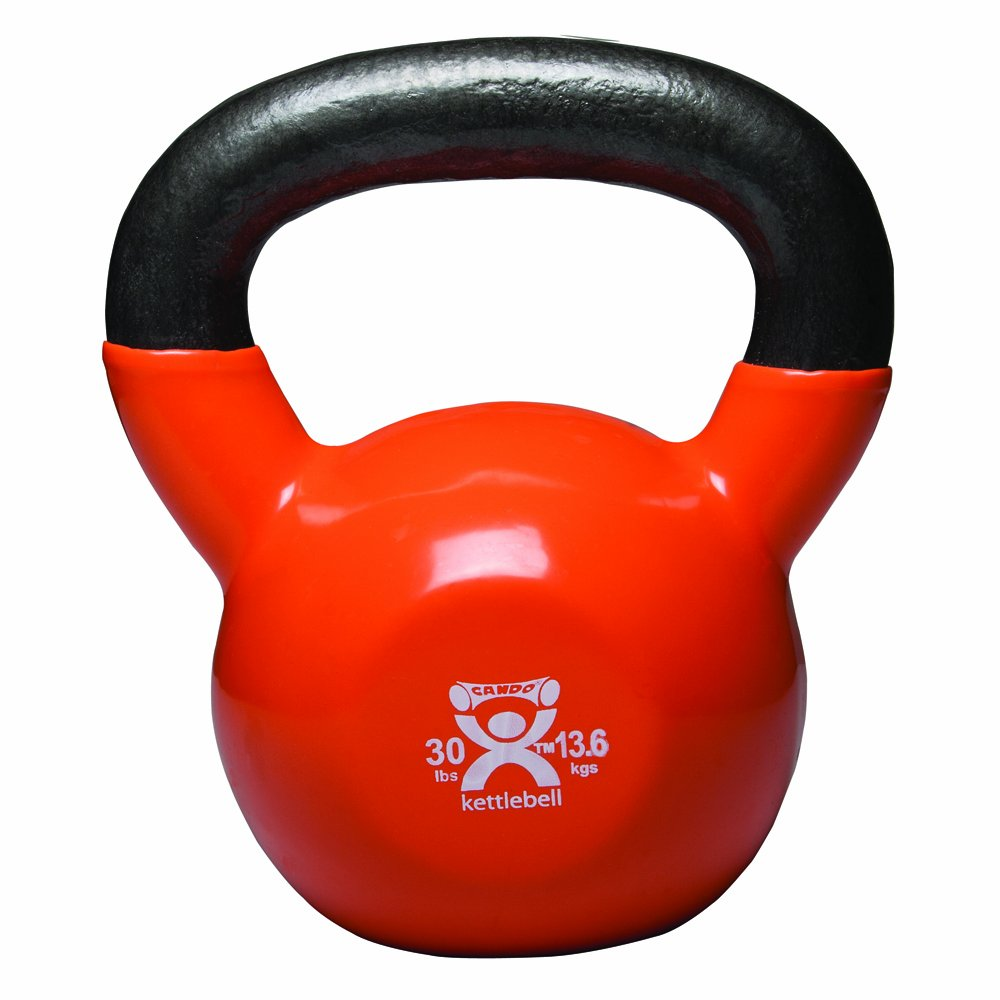 Cando 10-3197 Gold Kettle Bell, 30 lbs Weight