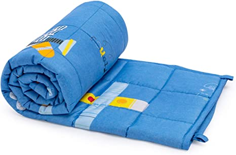 Great for Calming and Sleep 36x48inch Sivio Kids Flannel Weighted Blanket Fall and Winter Flannel Weighted Blanket for Toddler Robot Ultra Soft and Comfy Heavy Blanket 3lbs