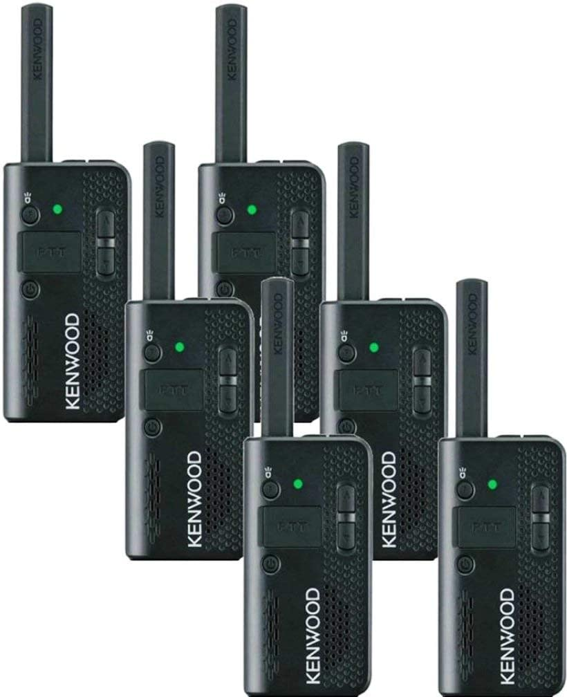 Kenwood PKT-23 ProTalk LT Pocket-Sized UHF FM Two-Way Radio (Pack of 6), 1.5 Watts Transmit Power, 4 Channels, 39-QT/168-DQT Coded Squelch, Frequency Range 451-470 MHz, Scan Function, VOX Ready