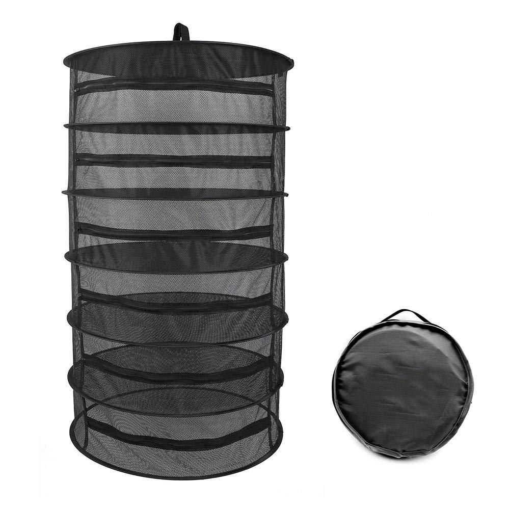 wonderfulwu Plant Drying Net 6 Layers Zipper Basket Breathable Durable Closed Pull Rack by wonderfulwu