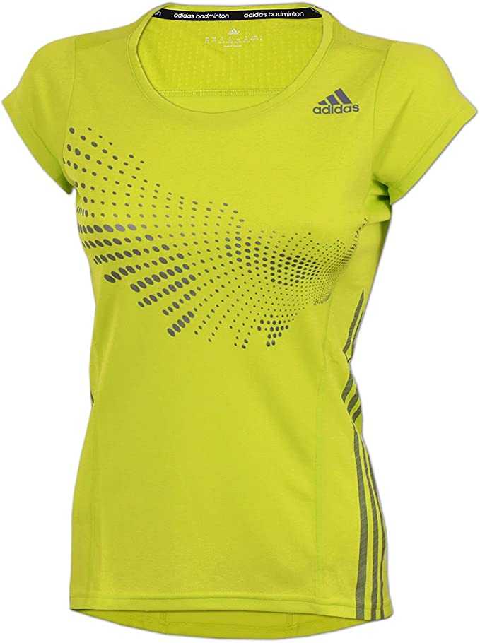 adidas Damen BT Graphic Shirt Sportshirt Badminton Fitness