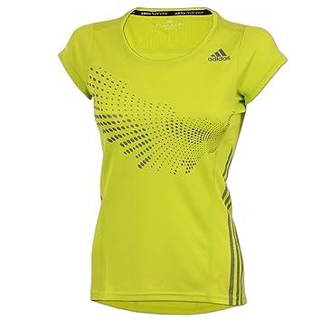 841beb46aca70e adidas Damen BT Graphic Shirt Sportshirt Badminton Fitness (semi solar  Yellow
