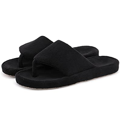5a6f270945e Onmygogo Women Indoor House Toe Post Flip Flop Slippers with Arch ...