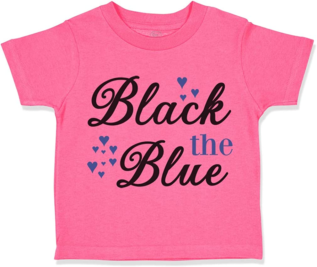 Custom Toddler T-Shirt Back The Blue Heart Funny Humor Cotton Boy /& Girl Clothes