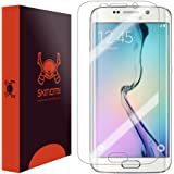 Skinomi® TechSkin - Samsung Galaxy S6 Edge Screen Protector [Full Screen Coverage] Premium HD Clear Film / Ultra High Definition Invisible and Anti-Bubble Crystal Shield - Retail Packaging