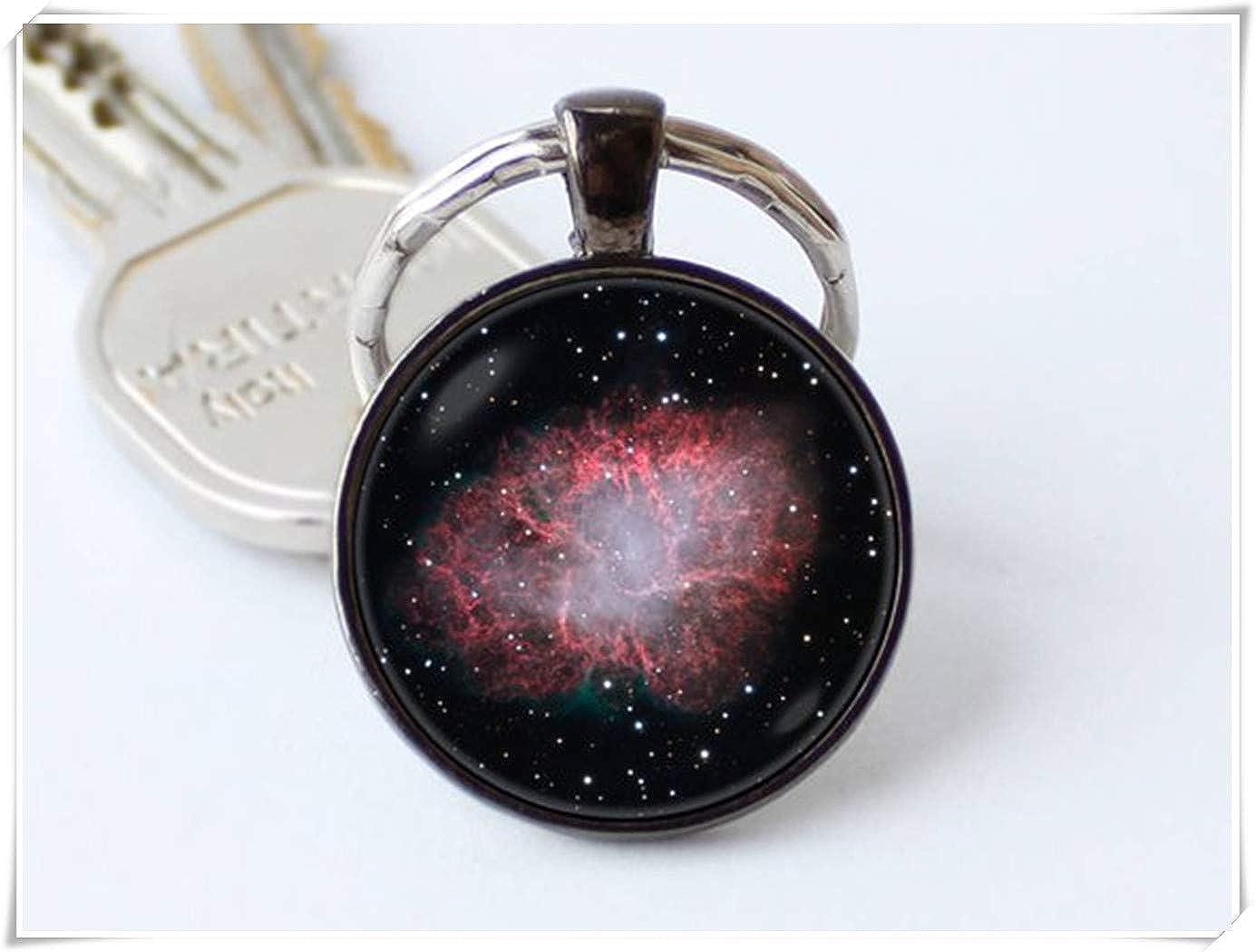 Llavero de Nebulosa con dise/ño de Nebula Crab Cosmos de Forever Llavero Espacial. Llavero Galaxy joyer/ía Espacial Llavero de Nebula