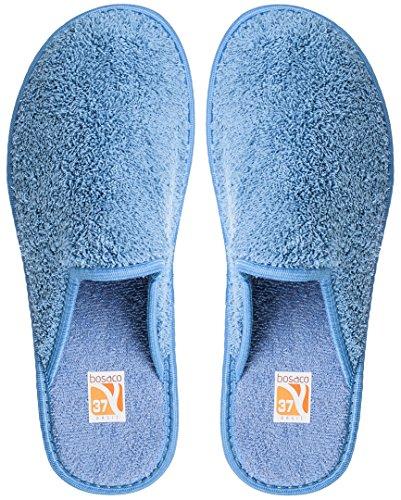 Bosaco zapatillas de lujo para las mujeres Bath Azul 2