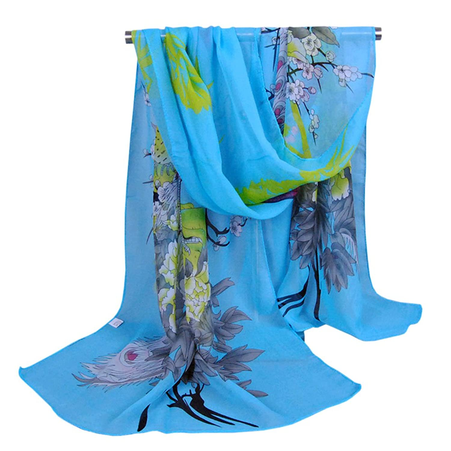 New Women Fashion Girls Long Soft Chiffon Scarf Wrap Shawl Scarves Stole