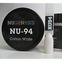 NUGENESIS Nail Color SNS Dip Dipping Powder NU 94 Cotton White 1.5oz/43g