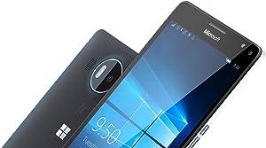 Microsoft Lumia 950 XL Unlocked Smartphone, 32GB, 5.7-Inch, Dual Sim, GSM, No Warranty - International Version (Black)
