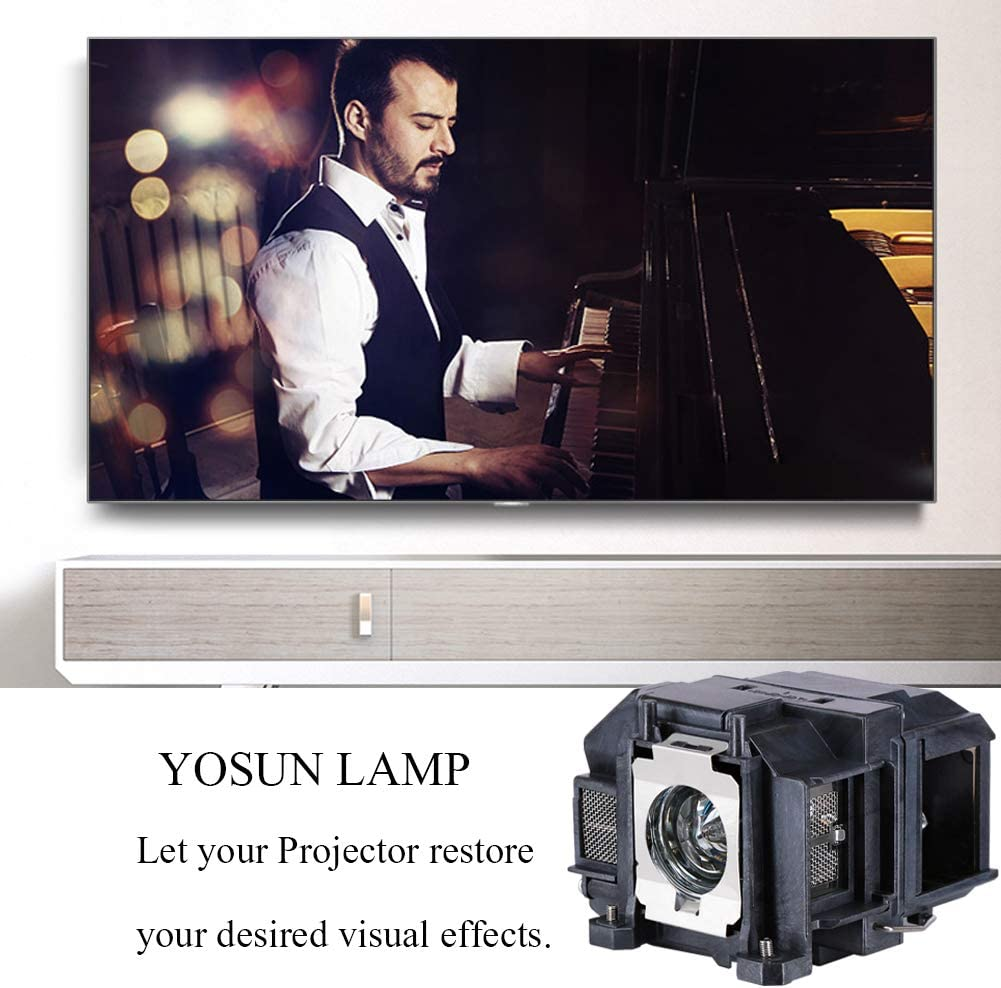 YOSUN v13h010l67 Projector Lamp for epson elplp67 ex5210 ex7210 ex3210 ex3212 vs210 vs220 s11 x12 x15 eb-s02 eb-w12 PowerLite Home Cinema 500 707 710hd 750hd Replacement Projector Lamp Bulb: Home Audio & Theater