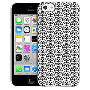 Apple iPhone 5 5s Case, Slim Fit Snap On Cover by Trek Victorian Drawn Black on White Trans Case