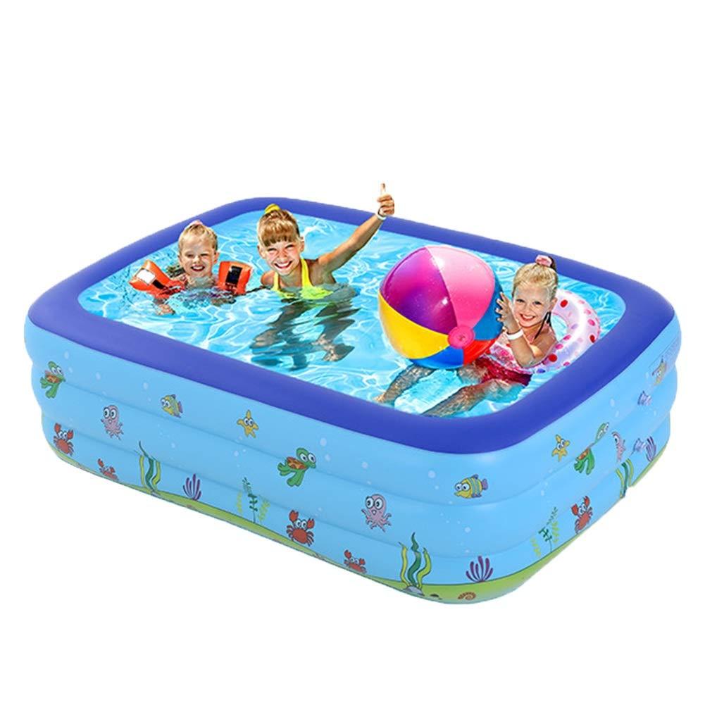 Tu satisfacción es nuestro objetivo MAGO Piscina para niños Inflable Rectangular Rectangular Rectangular para niños y Adultos, Cuatro tamaños, patrón de océano azul, con Parte Inferior Antideslizante de Burbuja ( Edition    1 , Talla   180×140×60cm )  grandes ofertas
