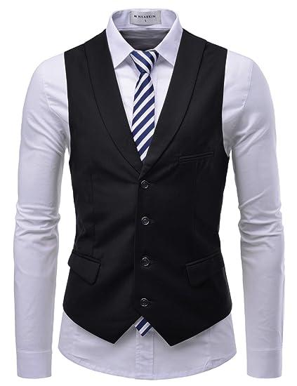 ab09c4a91074 (TJEV15) Stylish Slim Fit Vest Unique Shawl Collar 4 Button Sensual  Waistcoat BUS XXS