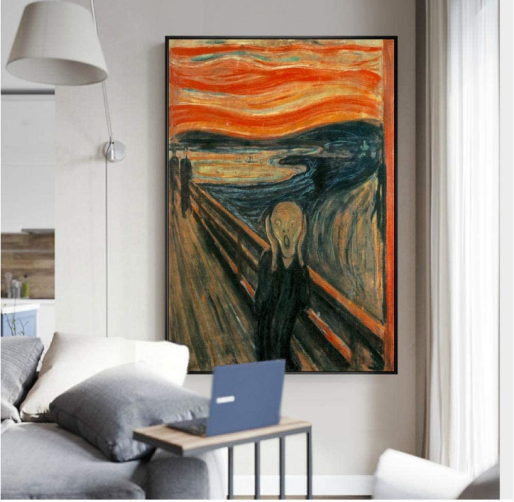 yyyyaa Lo Squisito Dipinto ad Olio su Tela Edward Munch urla Il Famoso Poster HD Prints World Famous Paintings Home Decoration Wall Art Printing