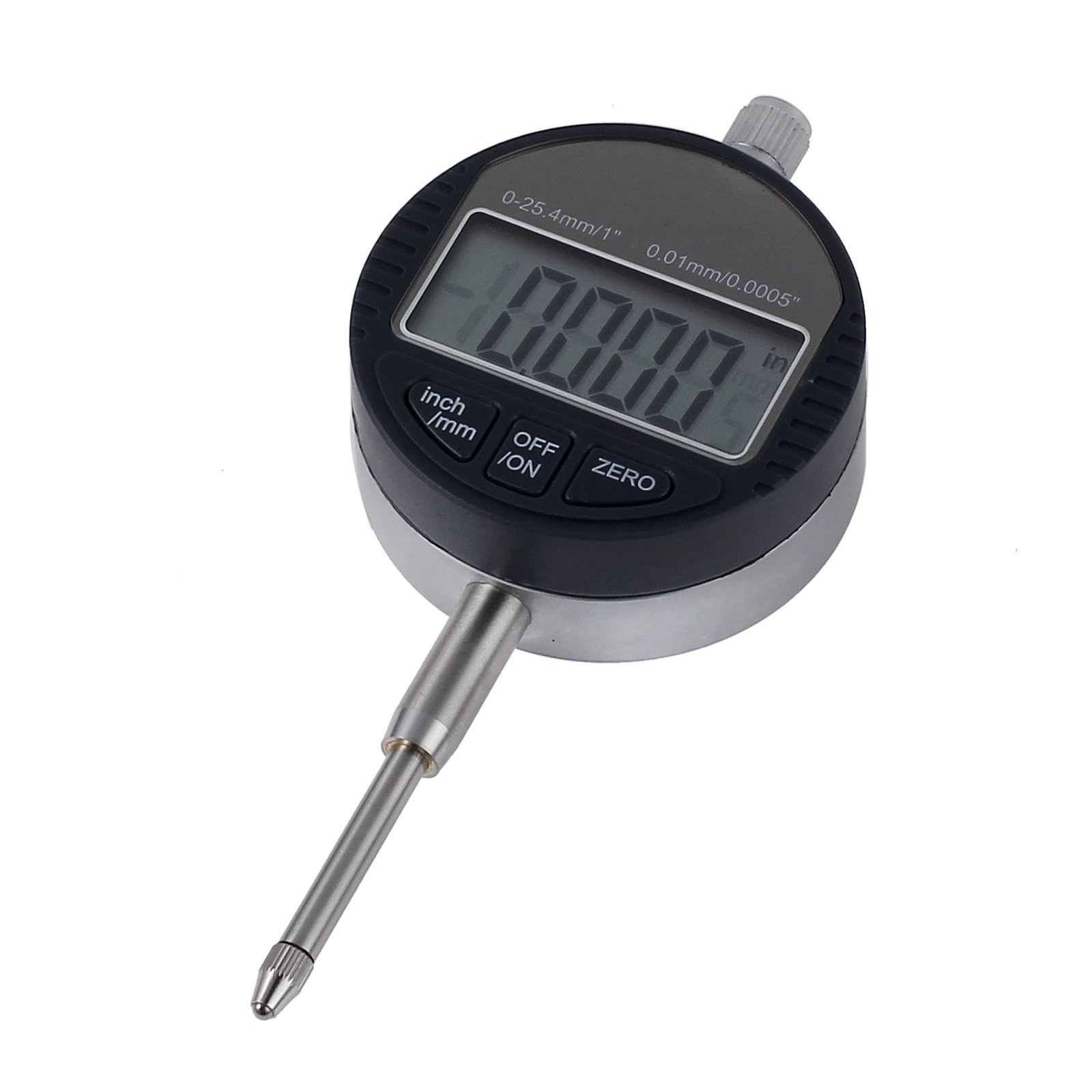 Proxima Direct Digital Dial Indicator DTI Digital Probe Indicator Dial Test Gauge 0.01mm/.0005'' Range 0-25.4mm/1'' Clock Gauge