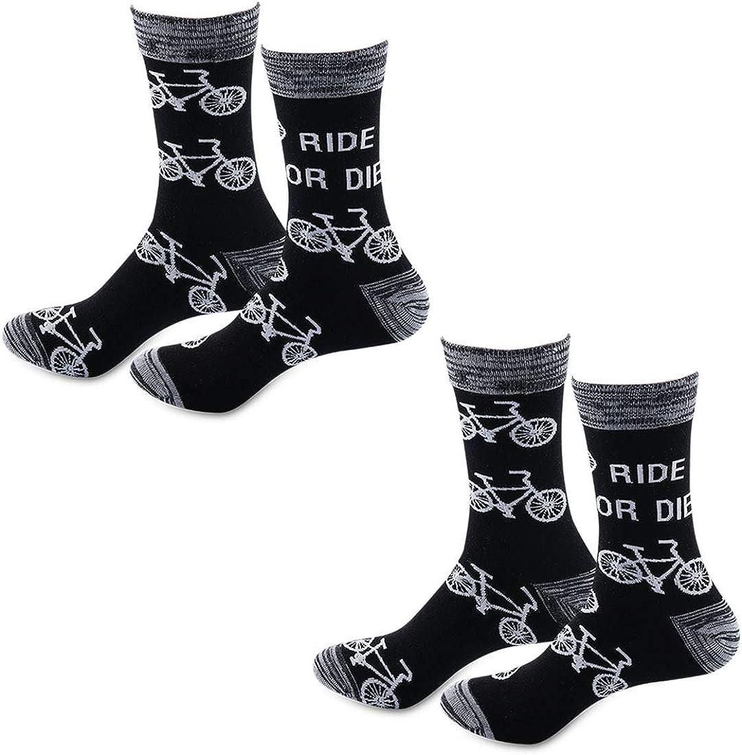 PYOUL 2 pares de calcetines divertidos para montar a caballo o morir calcetines Racer Adventure regalo para motociclista