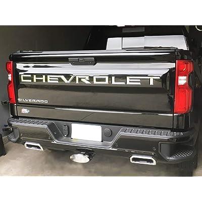 KENPENRI Tailgate Insert Letters for 2020 2020 Chevrolet Silverado - 3M Adhesive & 3D RaisedTailgate Letters - Chrome Silver: Automotive