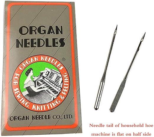 Donpow Juego de 50 agujas para máquinas de coser para máquinas de ...