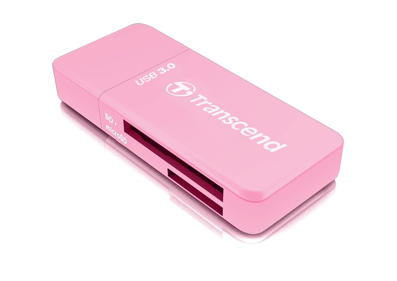 Transcend USB 3.0 SDHC/SDXC / microSDHC/SDXC Card Reader, TS-RDF5W (White)