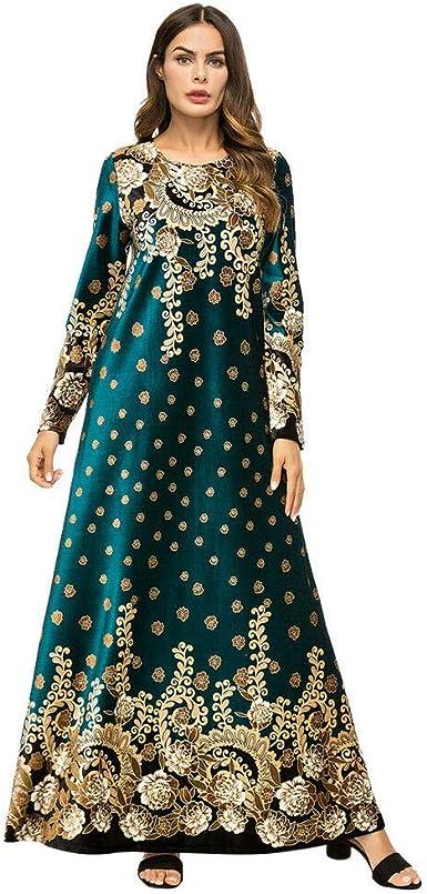 Goyajun Vestido de Terciopelo Musulmán, Oriente Medio Dubai ...