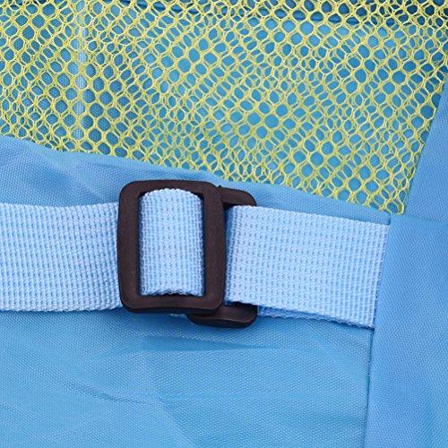 Peerless Strand Spielzeug Tasche, große Mesh Toys Aufbewahrungsbeutel Langlebig Sand Away Kordelzug Strand Rucksack Schwimmen und Pool Beach Bag Tote Packungen, bleiben Sie Weg Von Sand und Wasser ros Blau