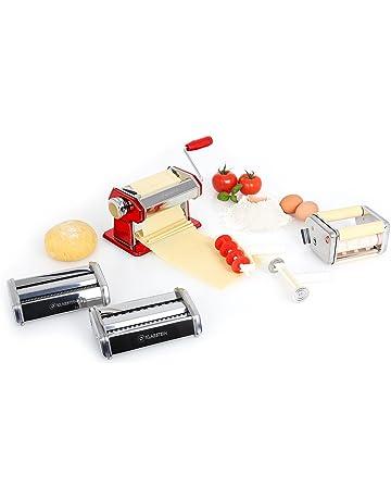 Klarstein Máquina para Hacer Pasta Fresca (3 Accesorios: Rodillo para Amasado, Cuchilla Ajustable