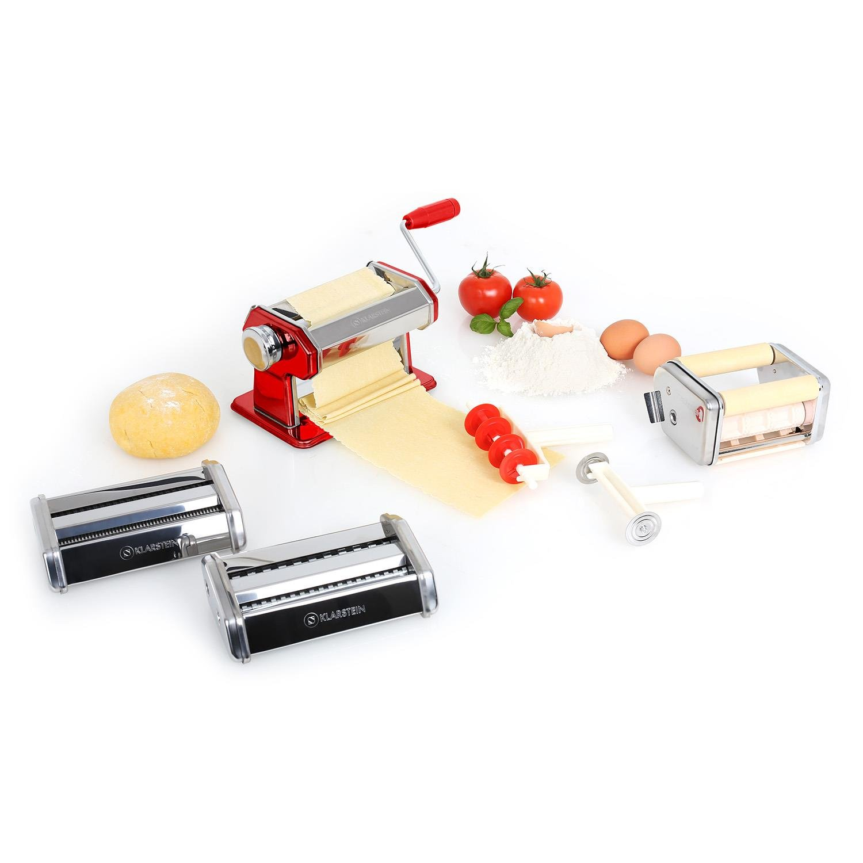 Klarstein Siena Rossa máquina para pasta acero inoxidable rodillo amasador fácil de