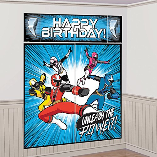 amscan Power Rangers Ninja Steel Scene Setter Wall Decoration -