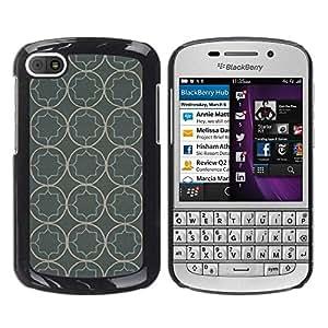 """Pulsar Snap-on Series Teléfono Carcasa Funda Case Caso para BlackBerry Q10 , Modelo del papel pintado rústico Gris Gris"""""""