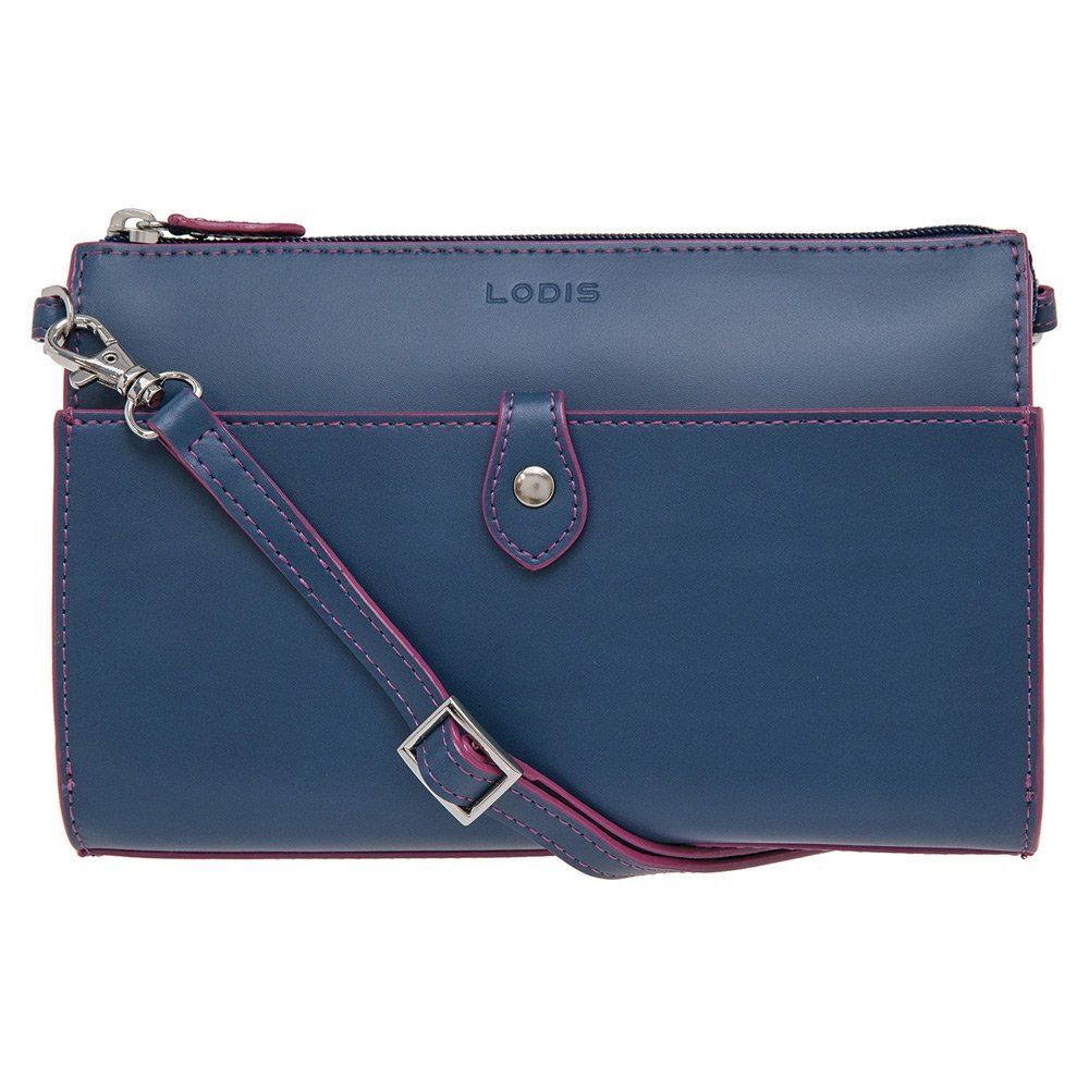 Lodis Accessories Women's Audrey Vicky Convertible Crossbody Clutch Indigo/Plum Clutch by Lodis