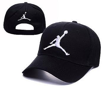 la meilleure attitude 6a3c2 1787d 2016 New Air Jordan Casquette (Noir avec logo blanc): Amazon ...