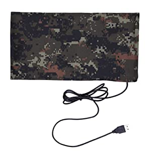 Per Reptile Amphibians Heating Pad Camouflage with Thermostat Adjustable Temperature Electric Under Tank Warming Mat Heated Blanket Waterproof for Snake Tortoise Crab Lizard Gecko Fish USB Cable