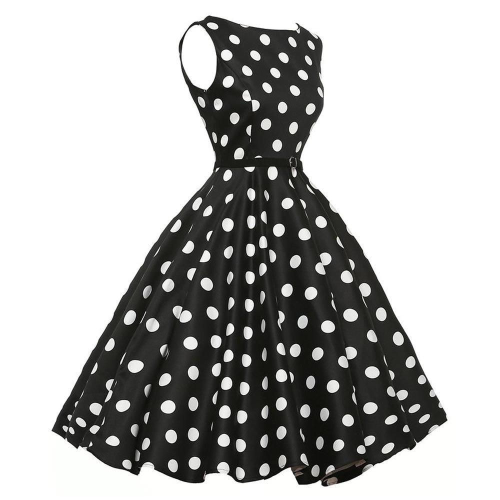 Amazon.com: Vintage Evening Party Dress Promotion!Rakkiss Bodycon Sleeveless Casual Retro Prom Swing Women Dress: Beauty