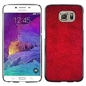 Stuss Case / Funda Carcasa protectora - Red Wallpaper Design Texture Textile Art - Samsung Galaxy S6 SM-G920