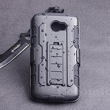 Cocomii Robot Armor LG K5 Funda [Robusto] Superior Funda Clip para Cinturón Soporte Antichoque Rígido Caja [Militar Defensor] Cuerpo Completo Doble ...