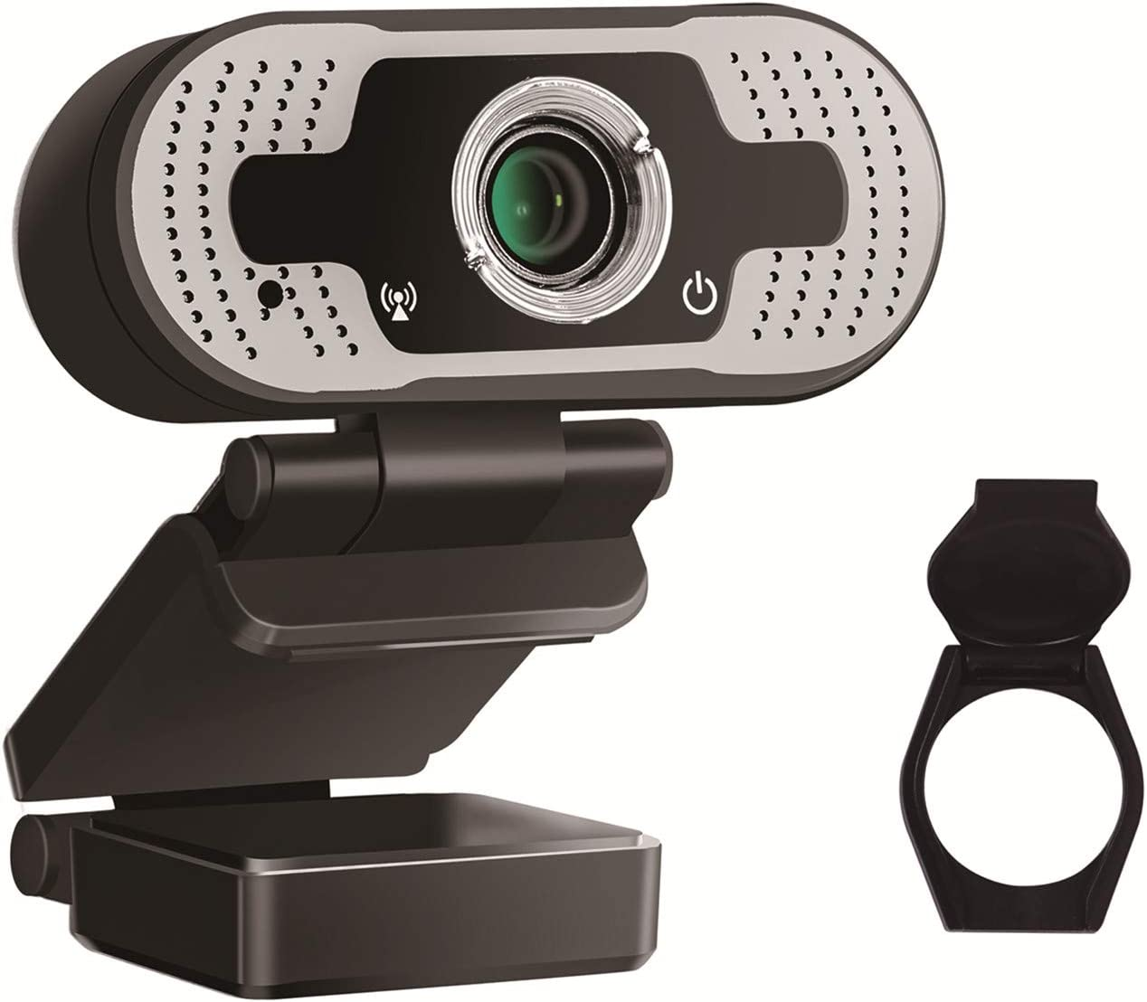 Webcam with Microphone, Used for Desktop Computer Laptop Computer 1080P HD Computer Camera [Plug and Play] USB 2.0 [30Fps] 3 Million Pixels, Used for Video Conference/Call/Game, (with Privacy Cover)