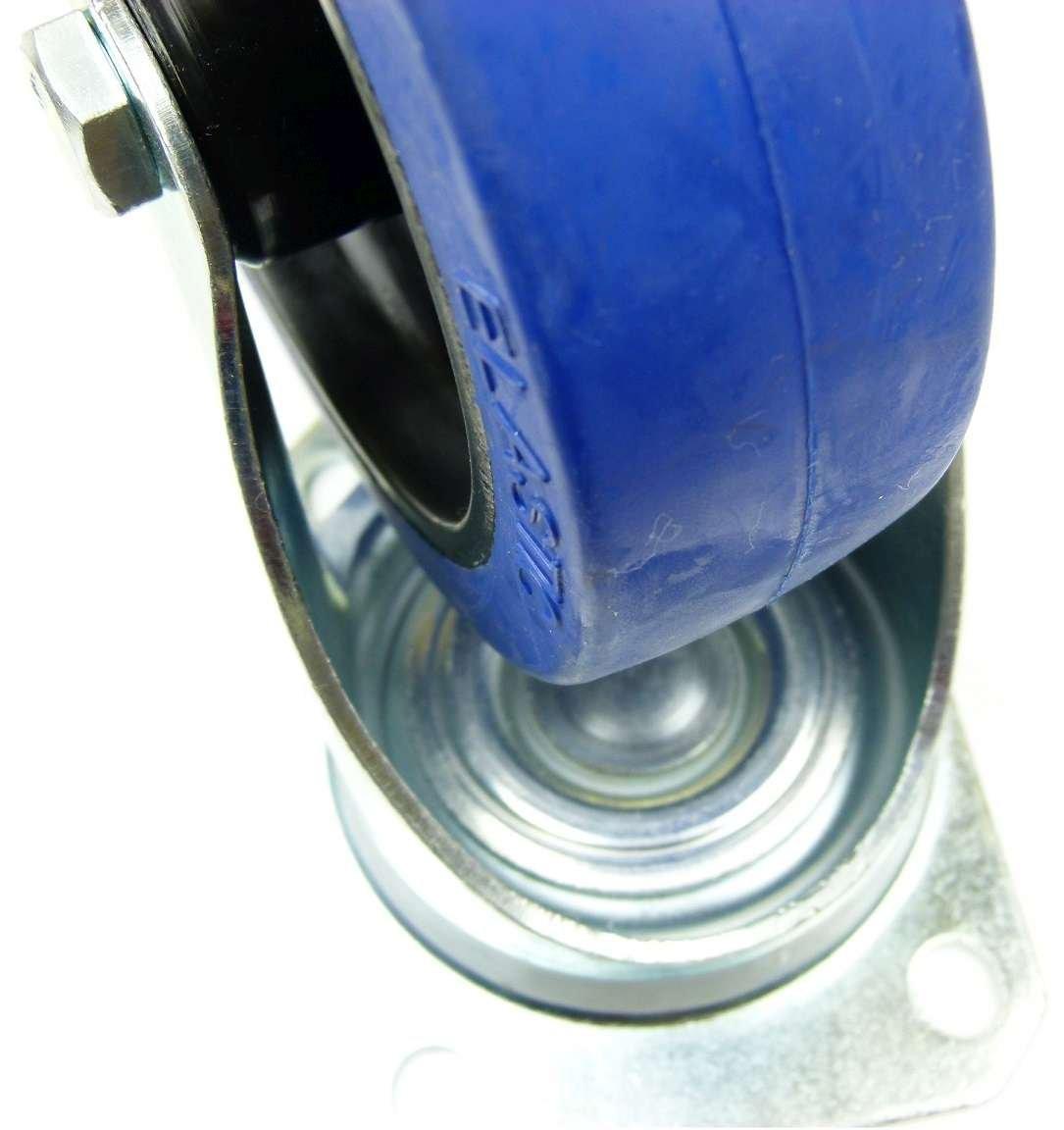INDUSTIREQALIT/ÄT 2 St/ück 125mm Blue Wheels Lenkrollen Transportrollen 200kg Rad