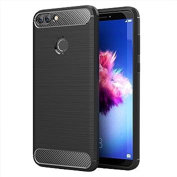 Simpeak Funda Compatible Huawei P Smart, Fundas Huawei P Smart Carcasa Huawei P Smart Gel Silicona Premium TPU Case (5,65 Pulgadas), Negro