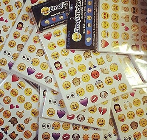 19 Funny Emoji Stickers Removable Decal Home Decor Wall Labels